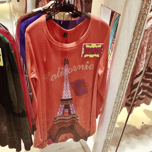 california engrish facepalm paris knockoff - 7941782016