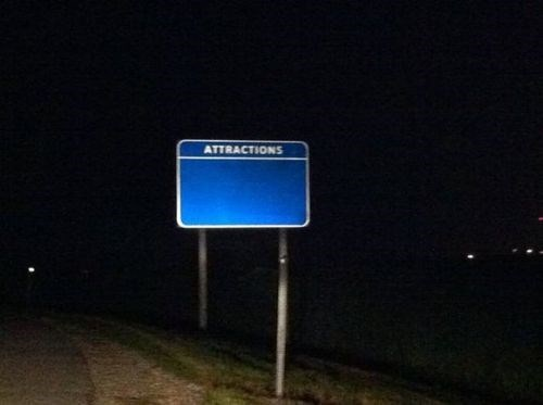 attractions road signs
