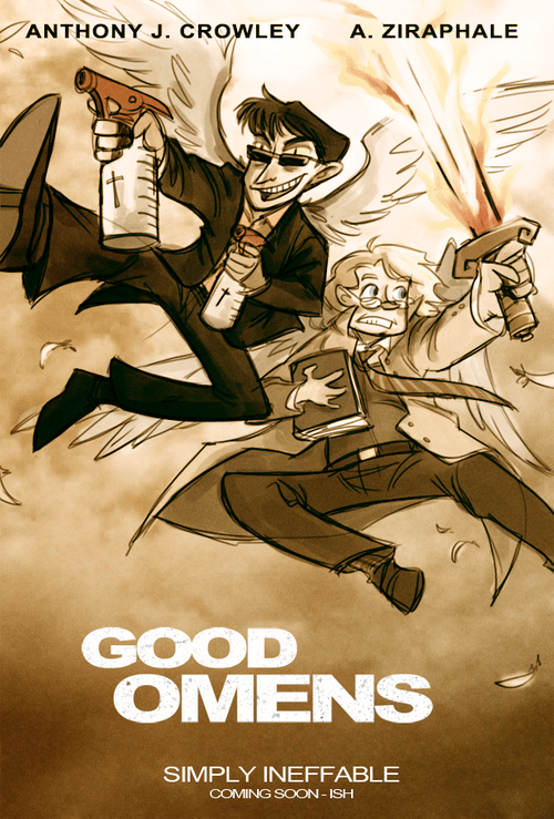 crossover,Good Omens,Fan Art,the other guys