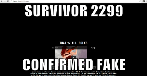 Sad,survivor 2299,right in the feels,fallout 4,hoax,Video Game Coverage