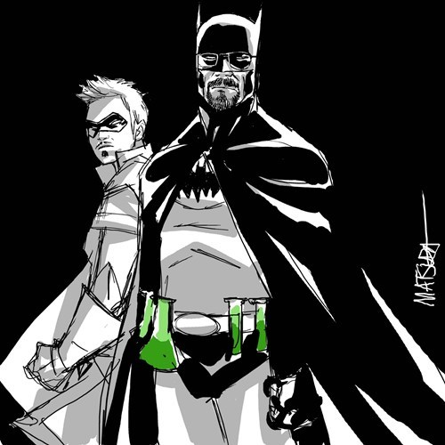 breaking bad mashup robin batman - 7942260736