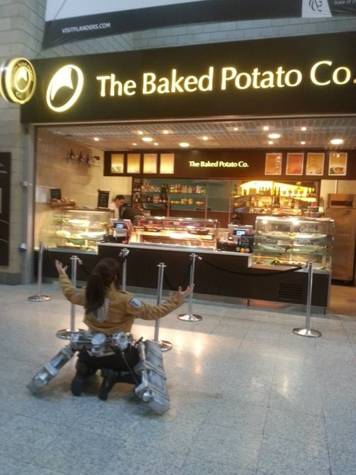 potato girl,cosplay,anime,attack on titan