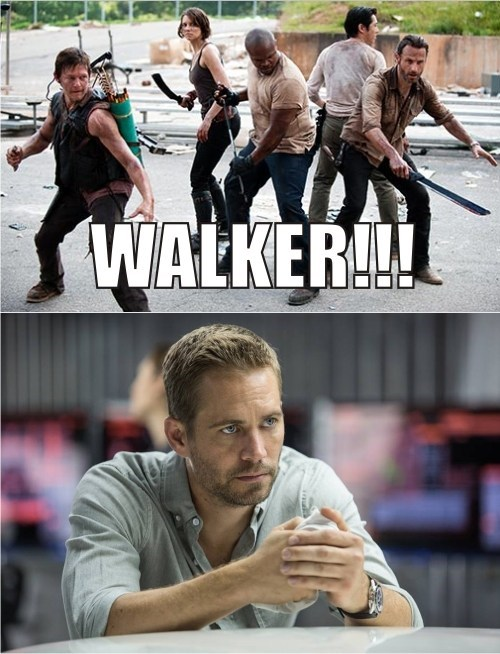 Fast and the Furious paul walker walkers The Walking Dead - 7942594048