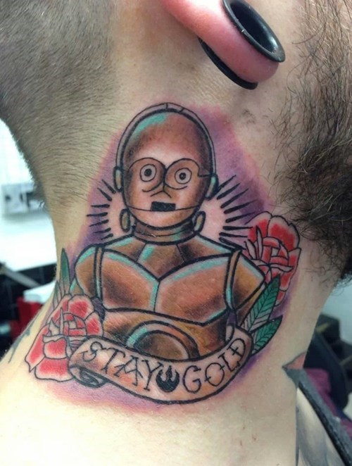 C3PO star wars tattoos - 7942892800