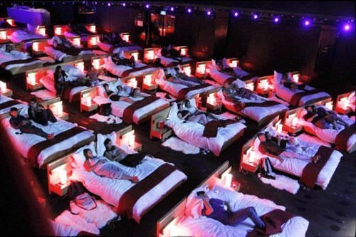 design cuddling movie theater