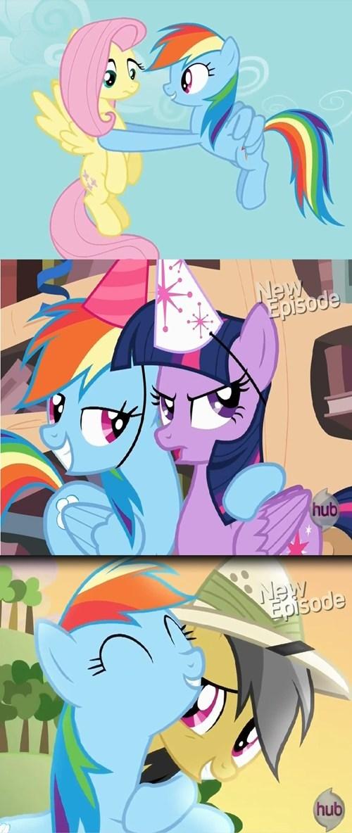 daring do MLP fluttershy ship twilight sparkle rainbow dash - 7943175424
