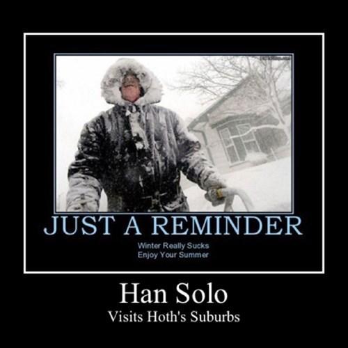 Han Solo Hoth funny star wars - 7943274240