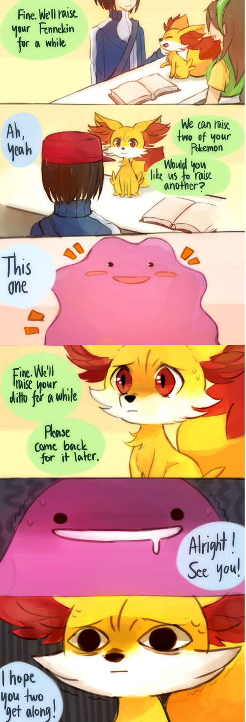 ditto,web comics,fennekin