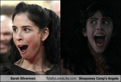 Angela totally looks like Sarah Silverman sleepaway camp