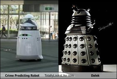 dalek totally looks like crime predicting robot - 7944440320