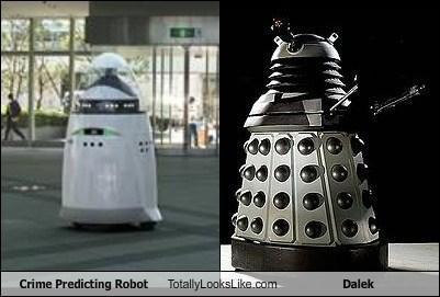 dalek totally looks like crime predicting robot - 7944440320