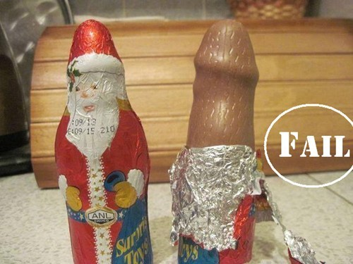 chocolate that looks naughty santa claus sketchy santas - 7944760832