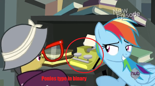 binary MLP daring do typewriter - 7944790528