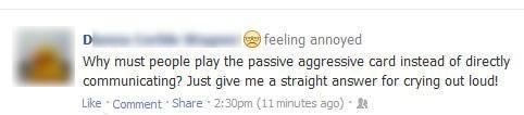Hypocrisy,passive aggressive