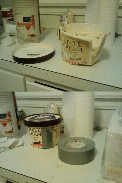 ice cream,duct tape,there I fixed it,g rated
