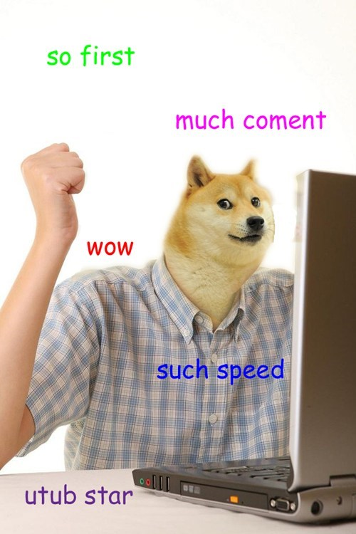 Memes first day on the internet kid doge such tag - 7945390080
