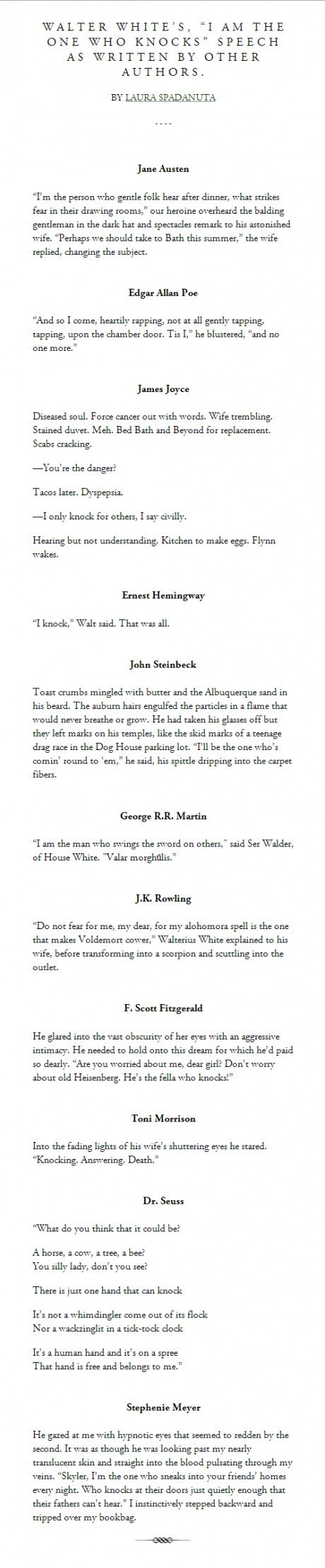 breaking bad authors spoof