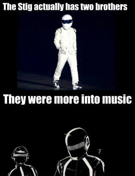 the stig,daft punk,top gear,brothers,Music