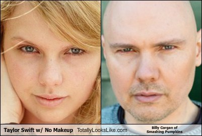 Taylor Swift w/ No Makeup Totally Looks Like Billy Corgan of Smashing Pumpkins