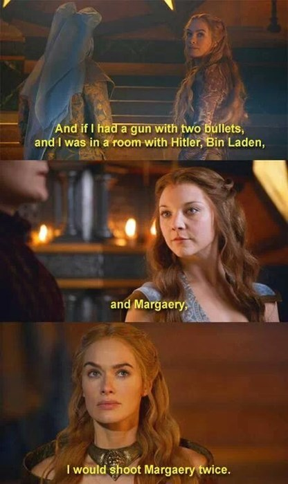 Game of Thrones,margery tyrell,gun,cersei lannister