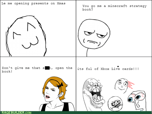 christmas,minecraft,presents,xbox live,prank