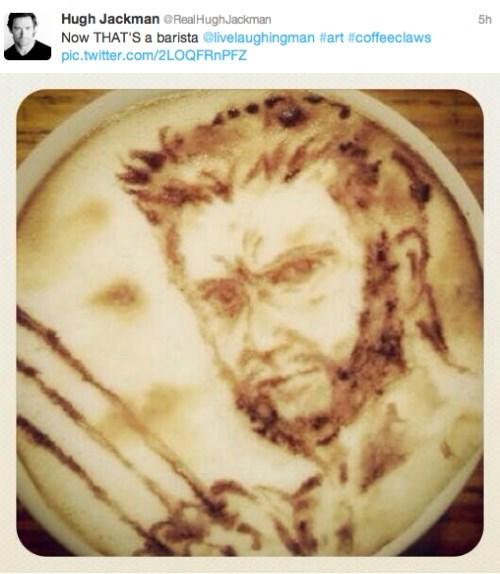barista coffee hugh jackman wolverine celebrity twitter - 7946262784