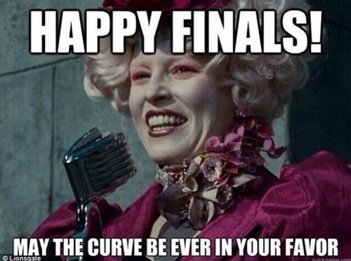 Facial expression - HAPPY FINALS! MAY THE CURVE BE EVER IN YOUR FAVOR OLionsqate Dchneme com