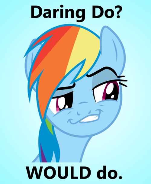 daring do,rainbow dash,dash face 2,eh-eh