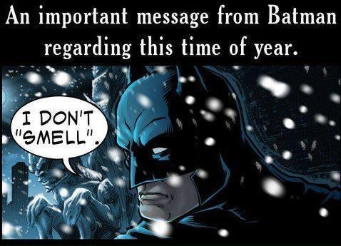 batman,christmas,jingle bells batman smells