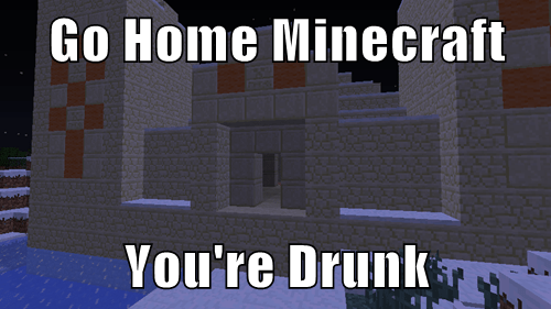 Go Home Minecraft  You're Drunk