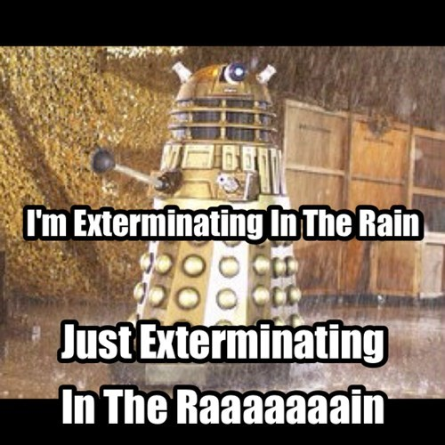 Singing in the rain daleks doctor who - 7946444032