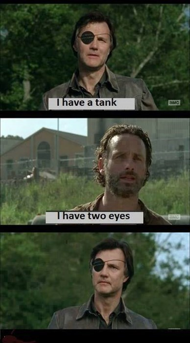 eye patch,Governor,Rick Grimes,tank
