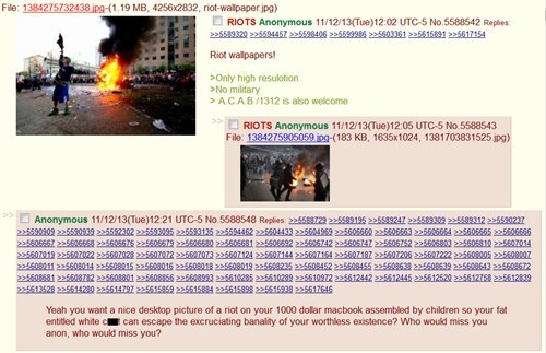 4chan,First World Problems,riots