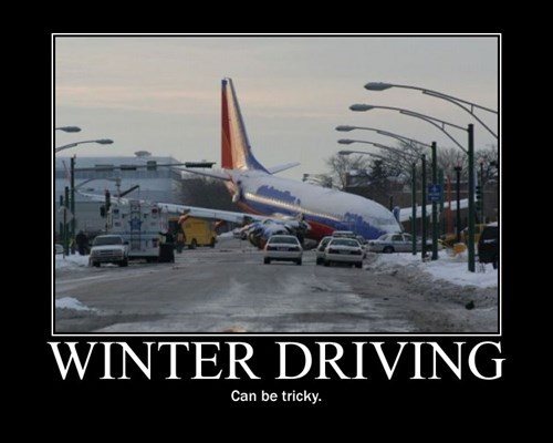 airplane driving funny roads walk wtf winter - 7946790400