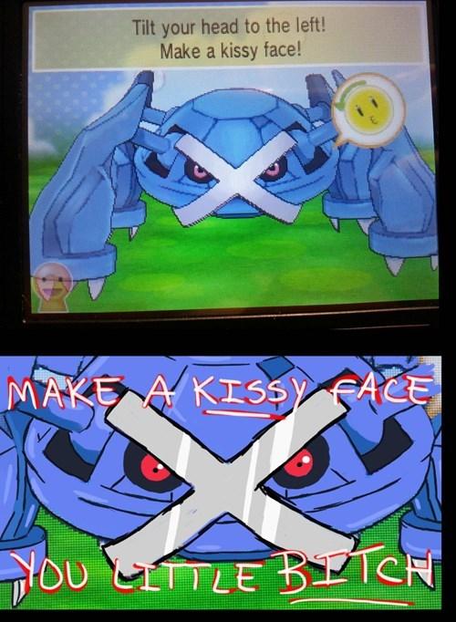kissy face metagross pokemon-amie - 7946845184