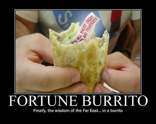 burrito fortune cookie funny wtf - 7946870784