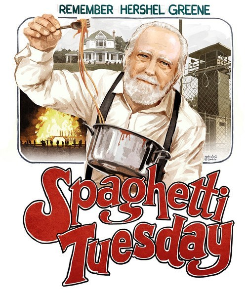 hershel greene T.Shirt spaghetti tuesday - 7946890752