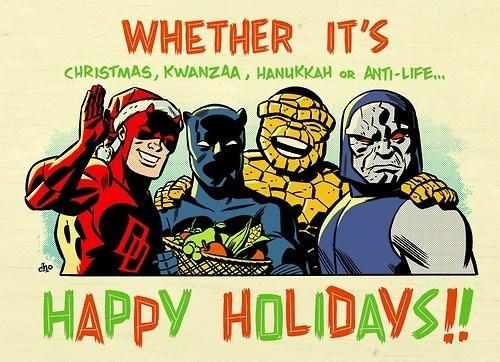 christmas marvel happy holidays hanukkah kwanzaa - 7946907904