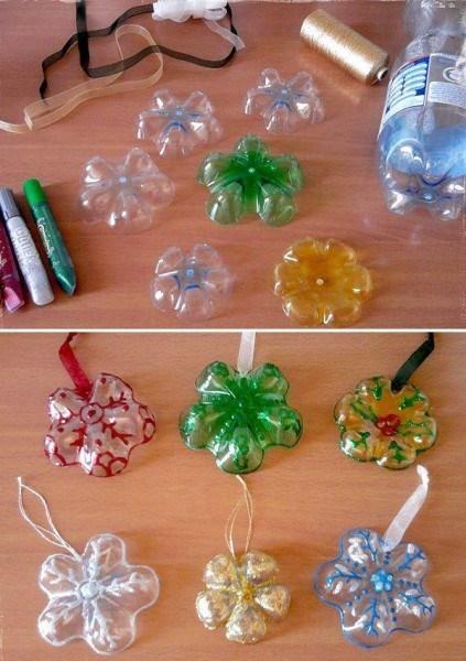 christmas trees DIY ornaments upcycled - 7946919936