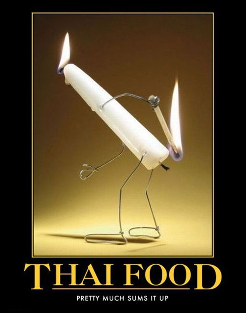 burning food funny Thai