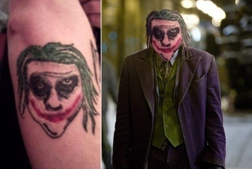 dark knight,joker,tattoo