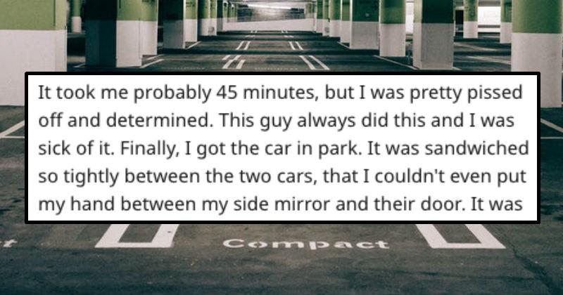 getting revenge on a parking lot