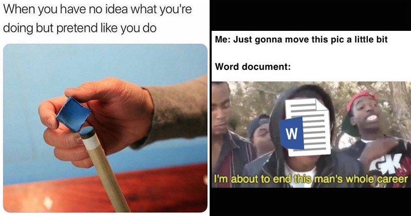 random memes, moving an image in a word document