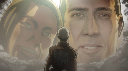 anime,nick cage,attack on titan