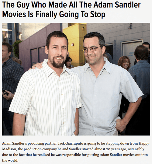 the horror has ended,movies,adam sandler