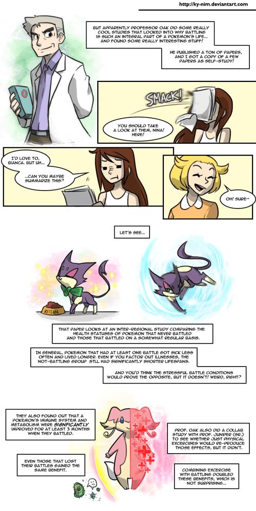 Battle Pokémon professor oak web comics - 7948313088