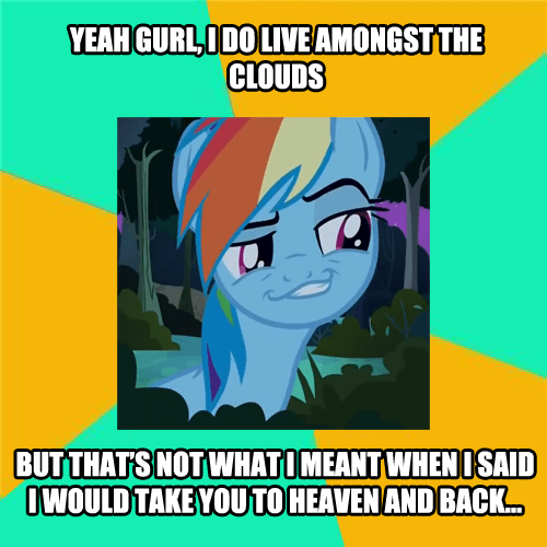 heaven rainbow dash pick up line dashie