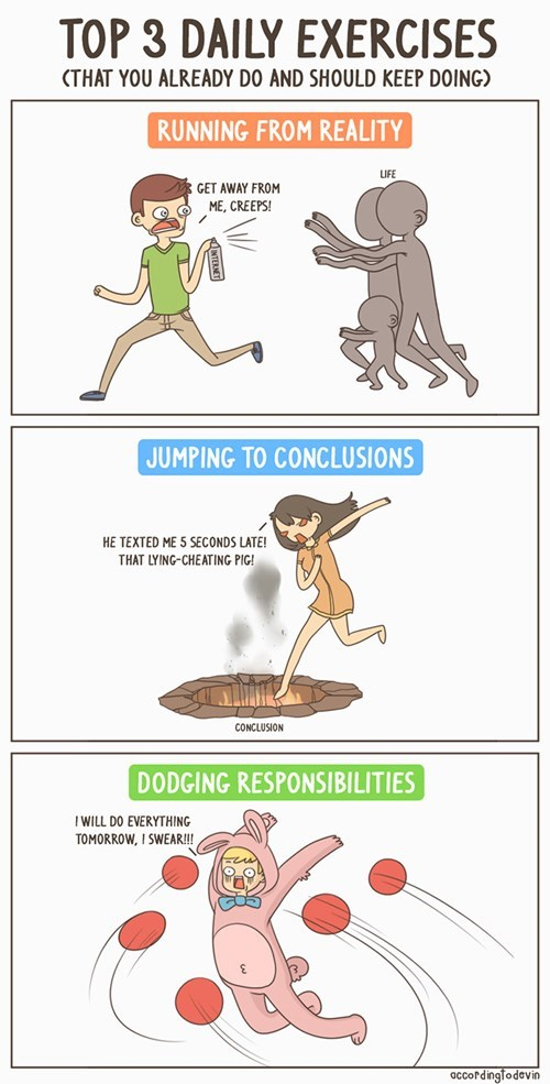 exercises,sad but true,web comics