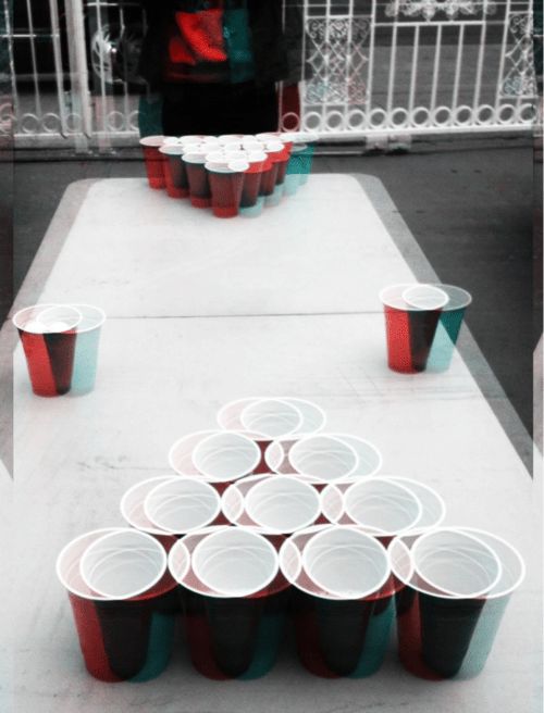 beer pong double vision drunk funny - 7948452864