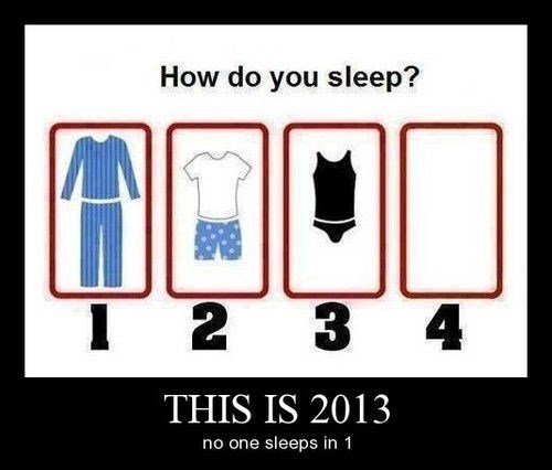 2013 funny pajamas sleeping - 7948542976